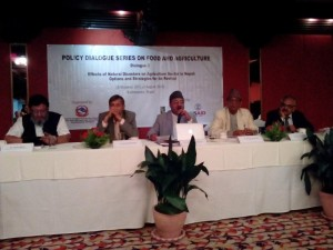 Participants at the policy dialogue
